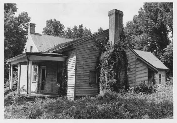 Daniel Trabue House: The Daniel Trabue House is shown here before it was restored. Courtesy of the National Park Service.