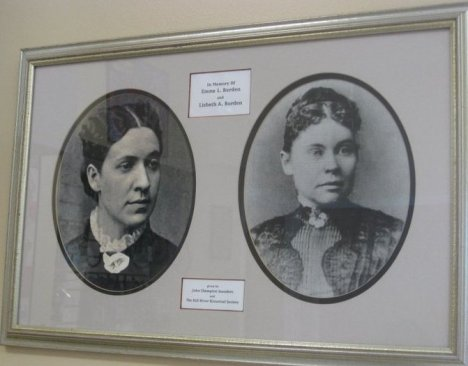 Emma Borden (left) & Lizzie Borden (right) photos