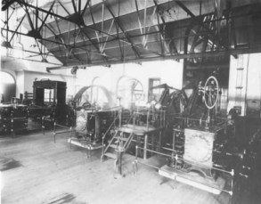 Interior view of Gold Coin machine shop (http://cripplecreekmuseum.com/cgi-bin/photograph.cgi?id=A83-16)