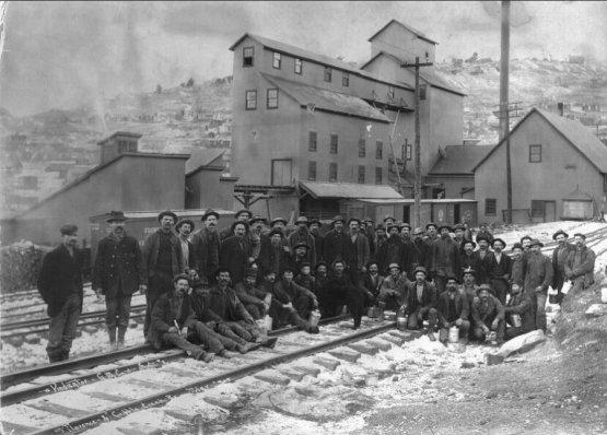 Miners at the Vindicator Mine, Cripple Creek Mining District, Victor, Colorado
