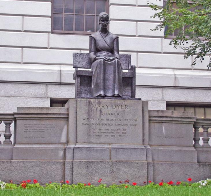Mary Dyer statue (Massachusetts State House, Boston)