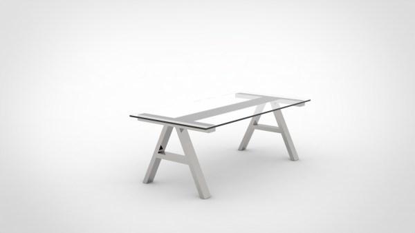 table industrielle treteaux