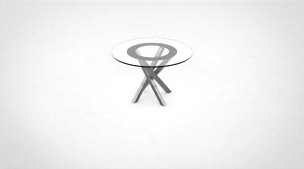 pied de table industrielle central