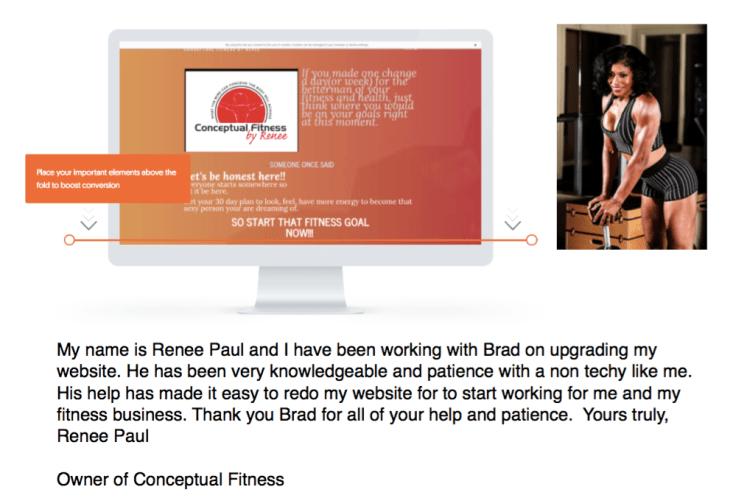 Renee Paul Testimonial For Brad Smith