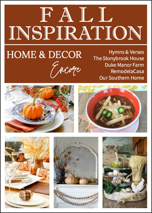 Home and Decor Encore Fall Inspiration
