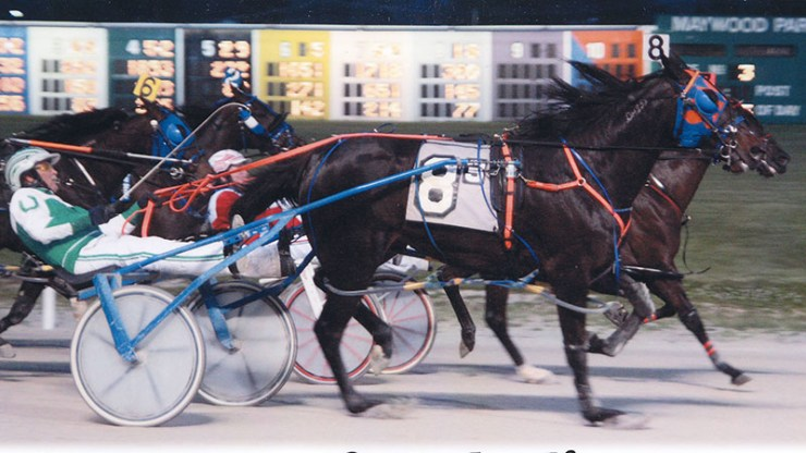 Excelerated Speed winning a race at Maywood Park on June 12, 2015.