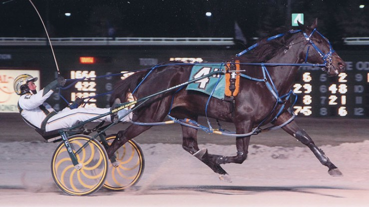 Excelerated Speed winning a race at Balmoral Park on March 22, 2014