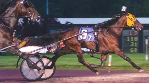 Pence Hanover winning a race at Pocono Downs on May 20, 2011