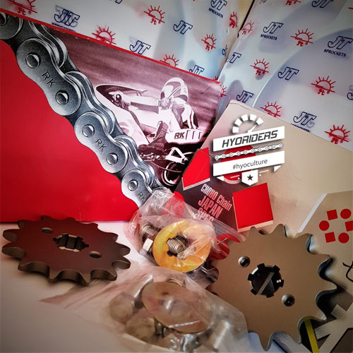 Uprated Japanese 520 Chain & Sprocket Kit :: GT GTR 125 250 RC Hyosung