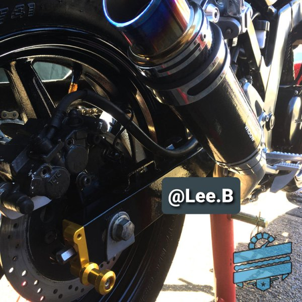 Hyosung Gt125r gt250r gt125 comet rear bobbins spools Kit SwingArm Chain Adjuster Plate