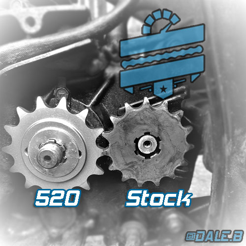 Uprated Japanese 520 Chain & Sprocket Kit :: Hyosung GT125R GT250R GT125 GT250
