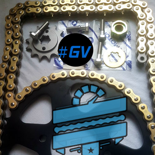 520 Upgrade Chain & Sprocket Kit (Conversion) :: Hyosung GV125 Aquila