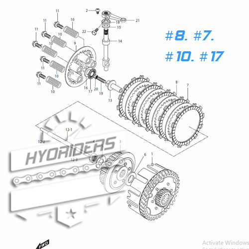 Clutch Plates (Performance) Hyosung GT125R GV125 XRX125
