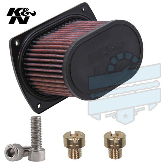 K&N Uprated Air Filter + Upgrade Carb Jets Kit - Hyosung GT125R GT125 Comet