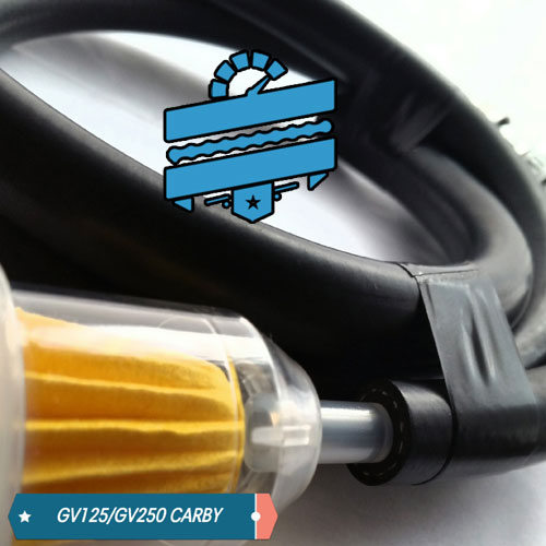 Uprated & Braided Fuel Line + Filter Kit :: Hyosung GV125 & GV250 {Carby Models}