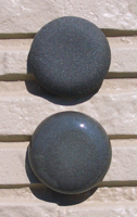 オリジナル陶器表札開運風水八角ベース色黒