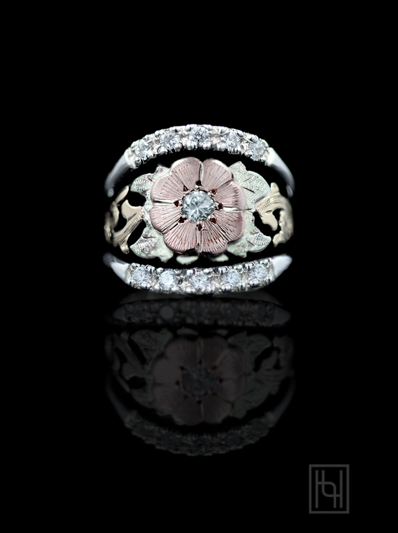 Texas Rose Ring Hyo Silver