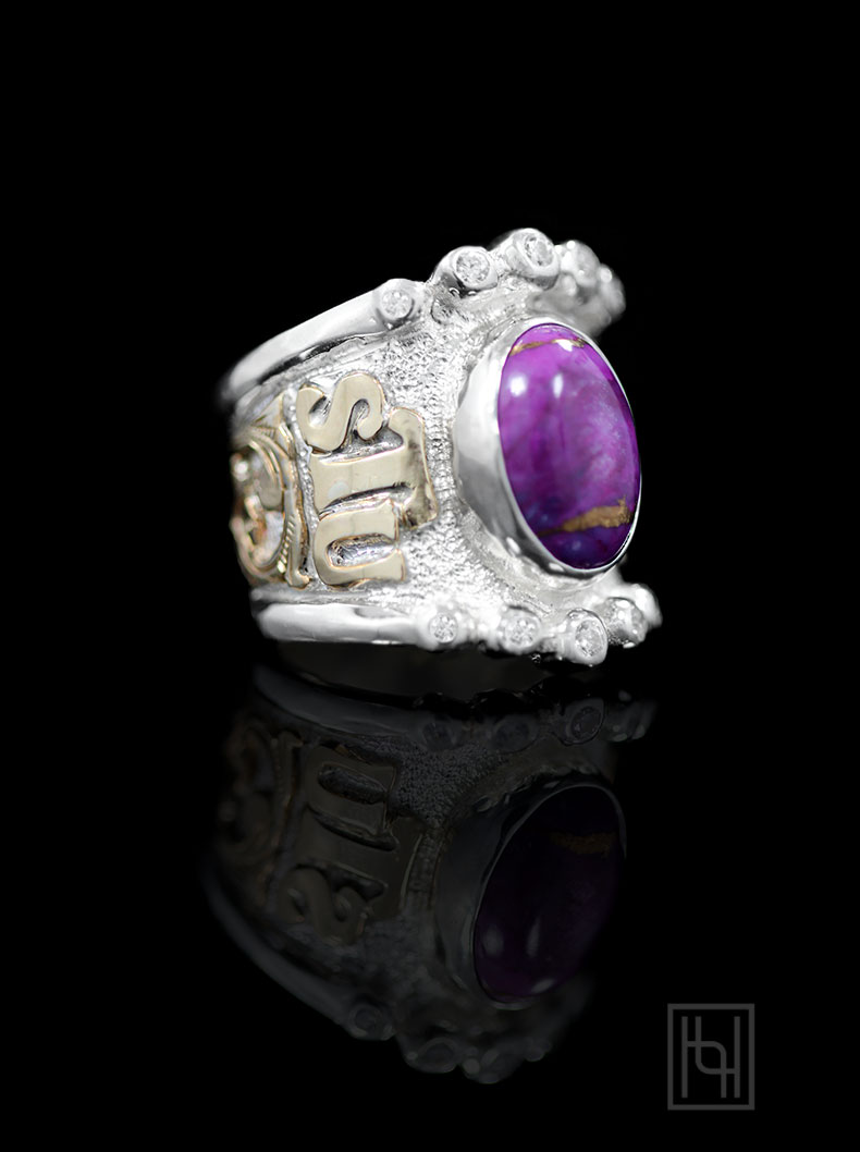 Custom RimRock Statement Amp Accent Ring Hyo Silver