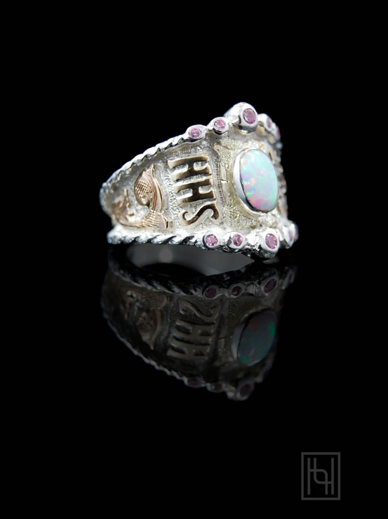 Custom RimRock Rope Amp Crystal Ring Customized Rings By