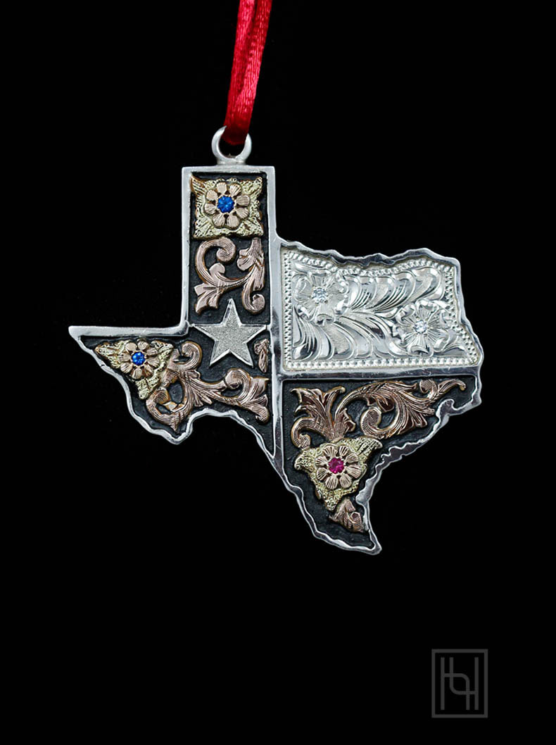 Texas Christmas Ornaments Christmas Ornaments By Hyo Silver