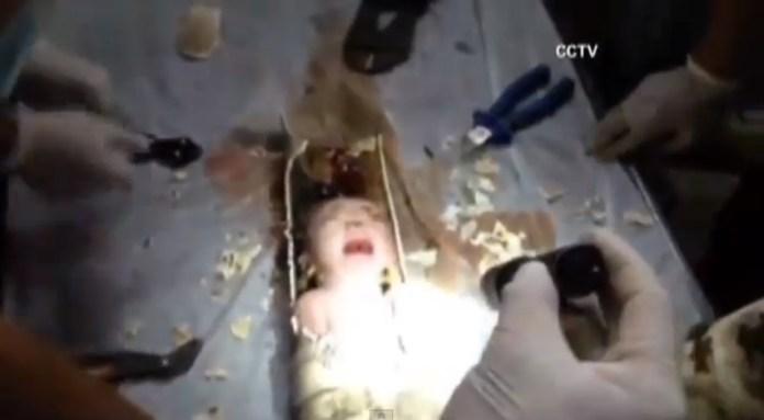 Abandoned Baby Sewage Pipe China 5