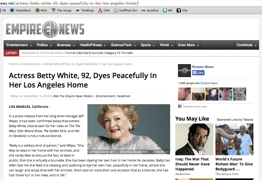 betty white dead