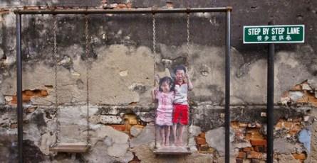 Brother & Sister Street Art Georgetown Penang