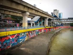 Street Art Graffiti Klang River Kuala Lumpur