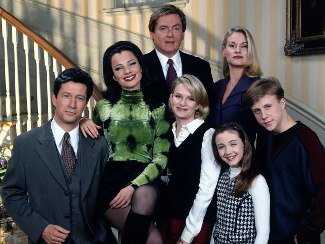 The cast of THE NANNY clockwise