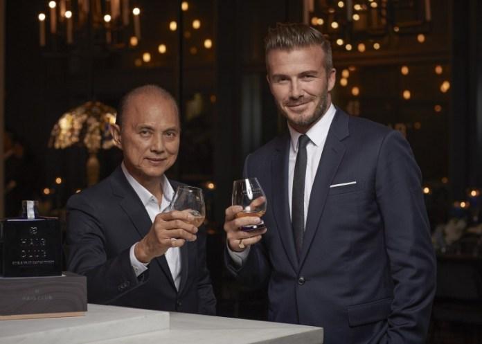 Datuk Jimmy Choo and David Beckham toast the launch of Haig Club Malaysia