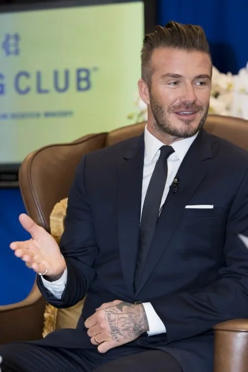 David Beckham at the intimate  briefing held at The Majestic Hotel Kuala Lumpur for the launch of Haig Club