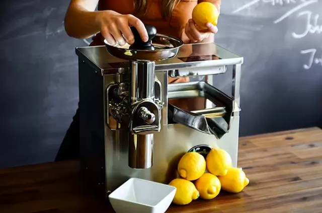 Example of cold-press juicer (Source: happymoosejuice.com)