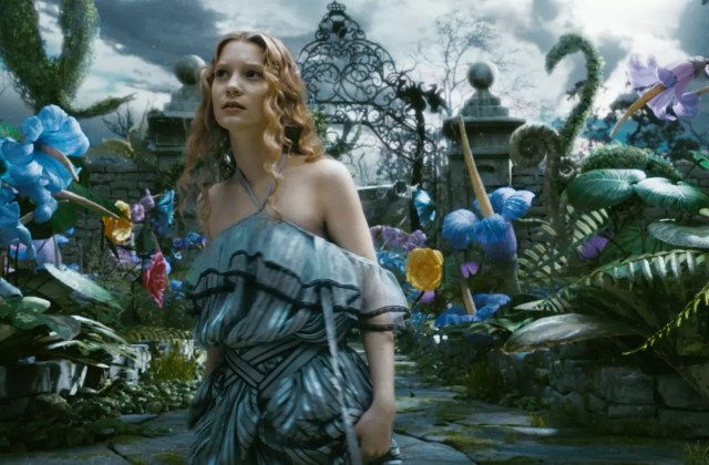 ALICE IN WONDERLAND Mia Wasikowska stars as Alice in Walt Disney PicturesÕ epic 3D fantasy adventure ALICE IN WONDERLAND. A 19-year-old Alice returns to the whimsical world she first encountered as a young girl, reuniting with her childhood friends: the White Rabbit, Tweedledee and Tweedledum, the Dormouse, the Caterpillar, the Cheshire Cat, and of course, the Mad Hatter. In theaters nationwide on March 5, 2010. © Disney Enterprises, Inc. All rights reserved.