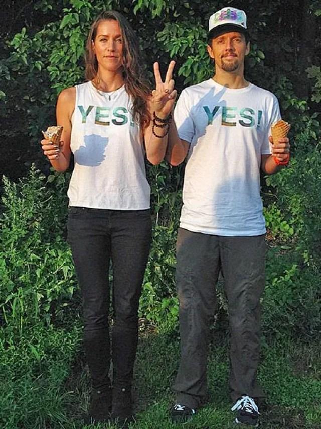 Jason Mraz and Tina Carano