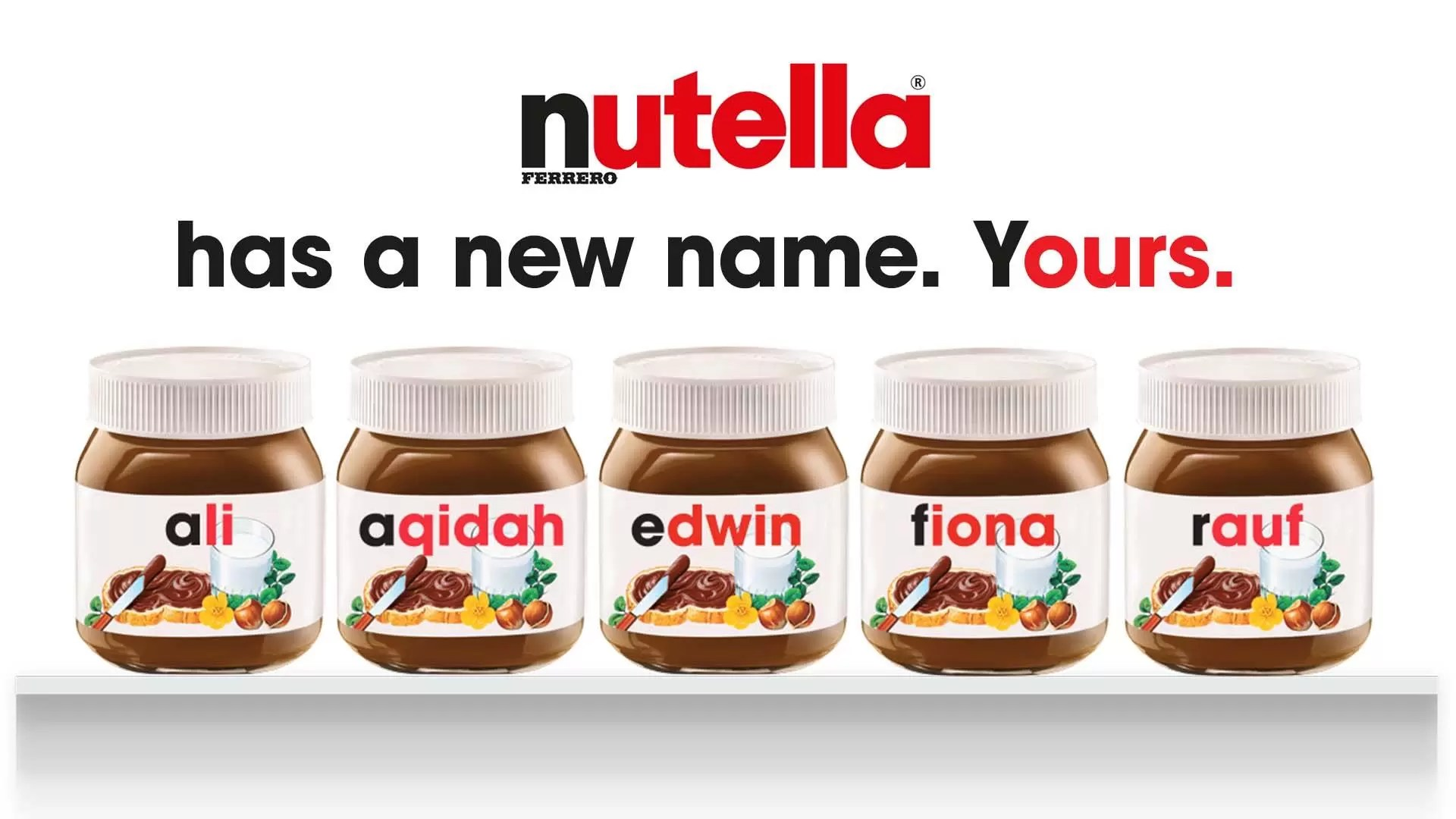 Image result for nutella personalized label