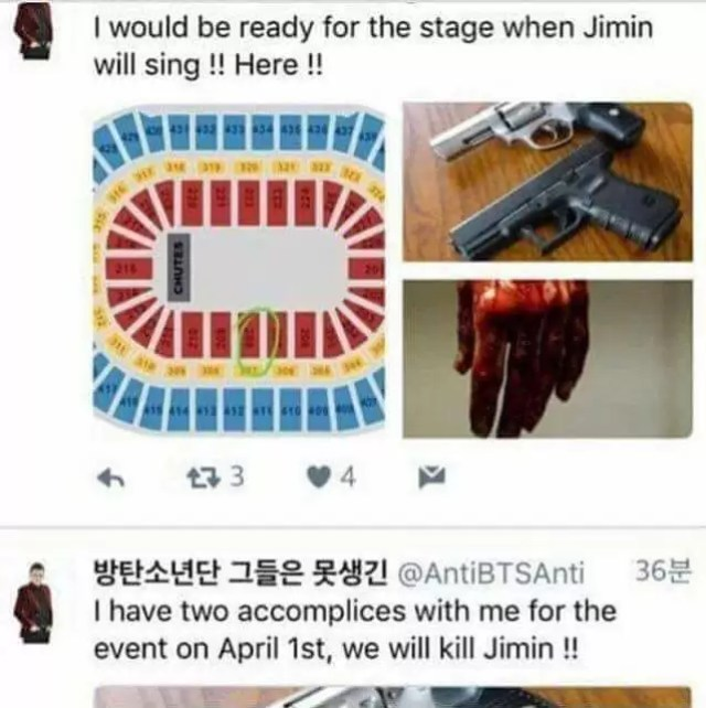 UPDATE) #BTS: Twitter User Threatens To Kill Jimin During Upcoming