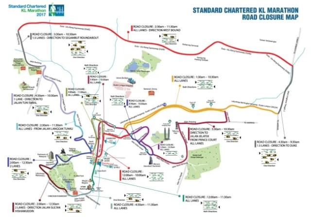 SC KL Marathon Road Closure