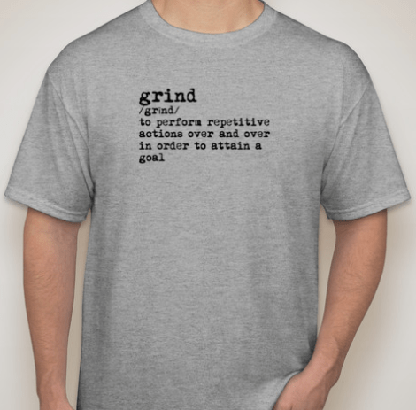 Grind Men's Short Sleeve (DARK GRAY)(cotton/poly blend)