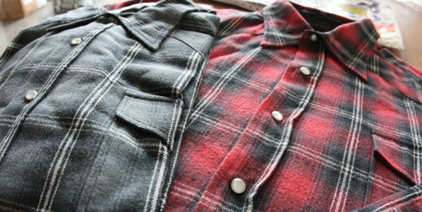 Worn in flannel shirt