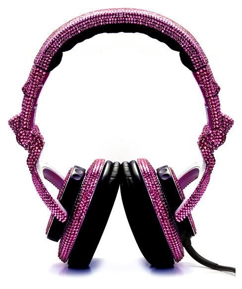swarovski fashion rocks dj headphones