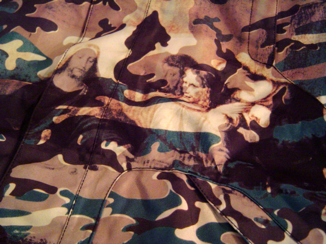 burton andy warhol last supper camo hooded jacket