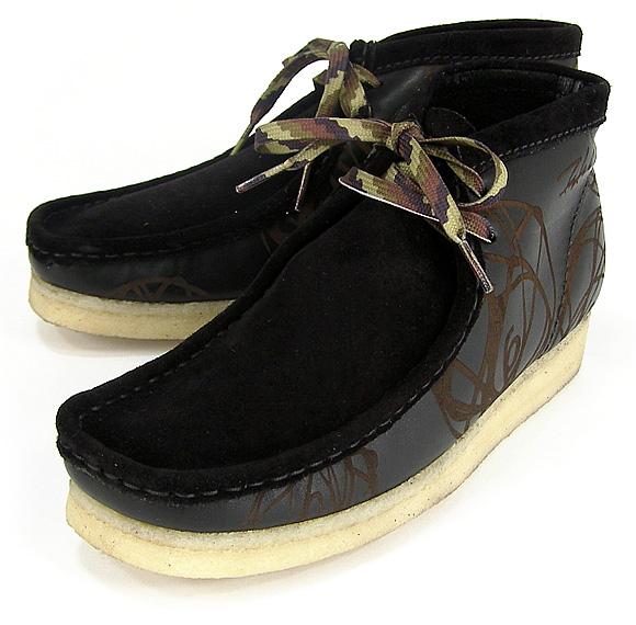 futura x clarks atomic wallabee boots