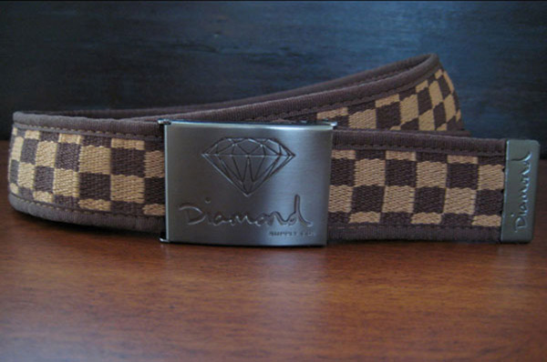 diamond supply co checkerboard scout belt