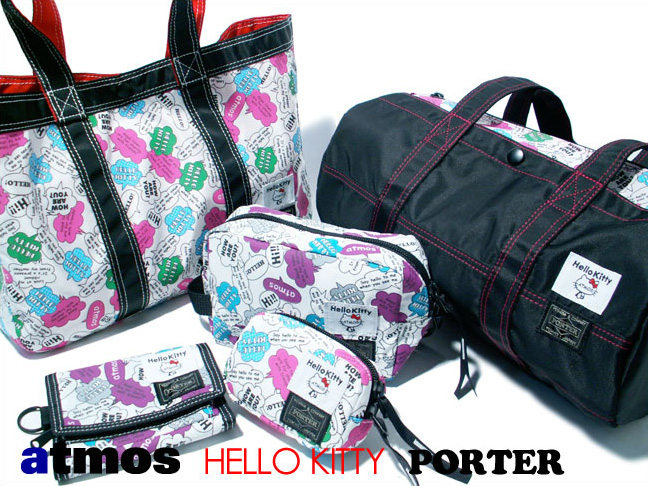 atmos x hello kitty x porter bags