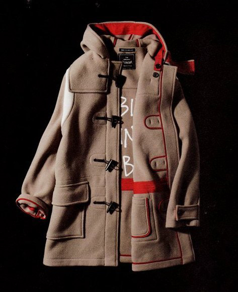 stussy x gloverall monty duffle coat