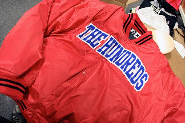 the hundredsin4mation x starter stadium jacket