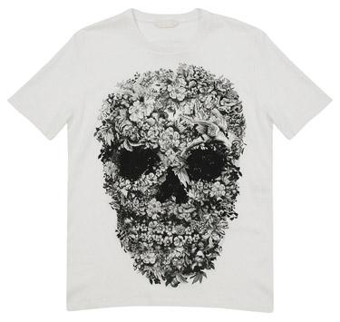 alexander mcqeen skull print tee