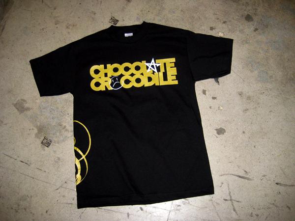 chocolate crocodile x rogue status t shirt