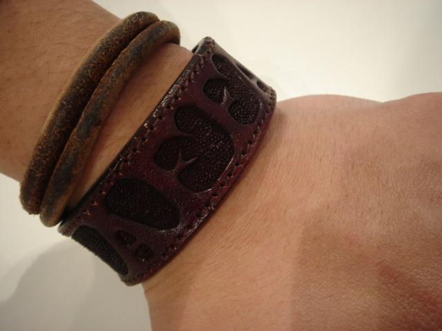 affa x grok leather bracelet
