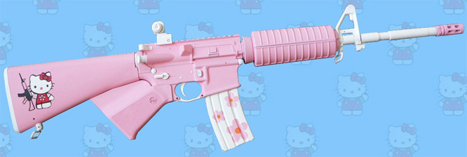 hello kitty x ar 15 rifle
